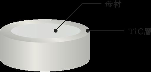 TiC処理構造